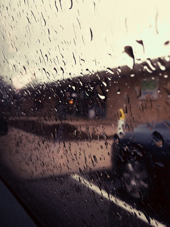car window, rain, rain drops