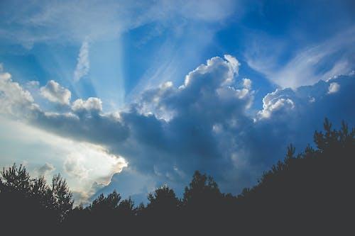 คลังภาพถ่ายฟรี ของ กลางวัน, ครึ้มเมฆ, ทิวทัศน์เมฆ, ท้องฟ้าสีคราม