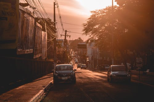 Free stock photo of city, dark, golden sun