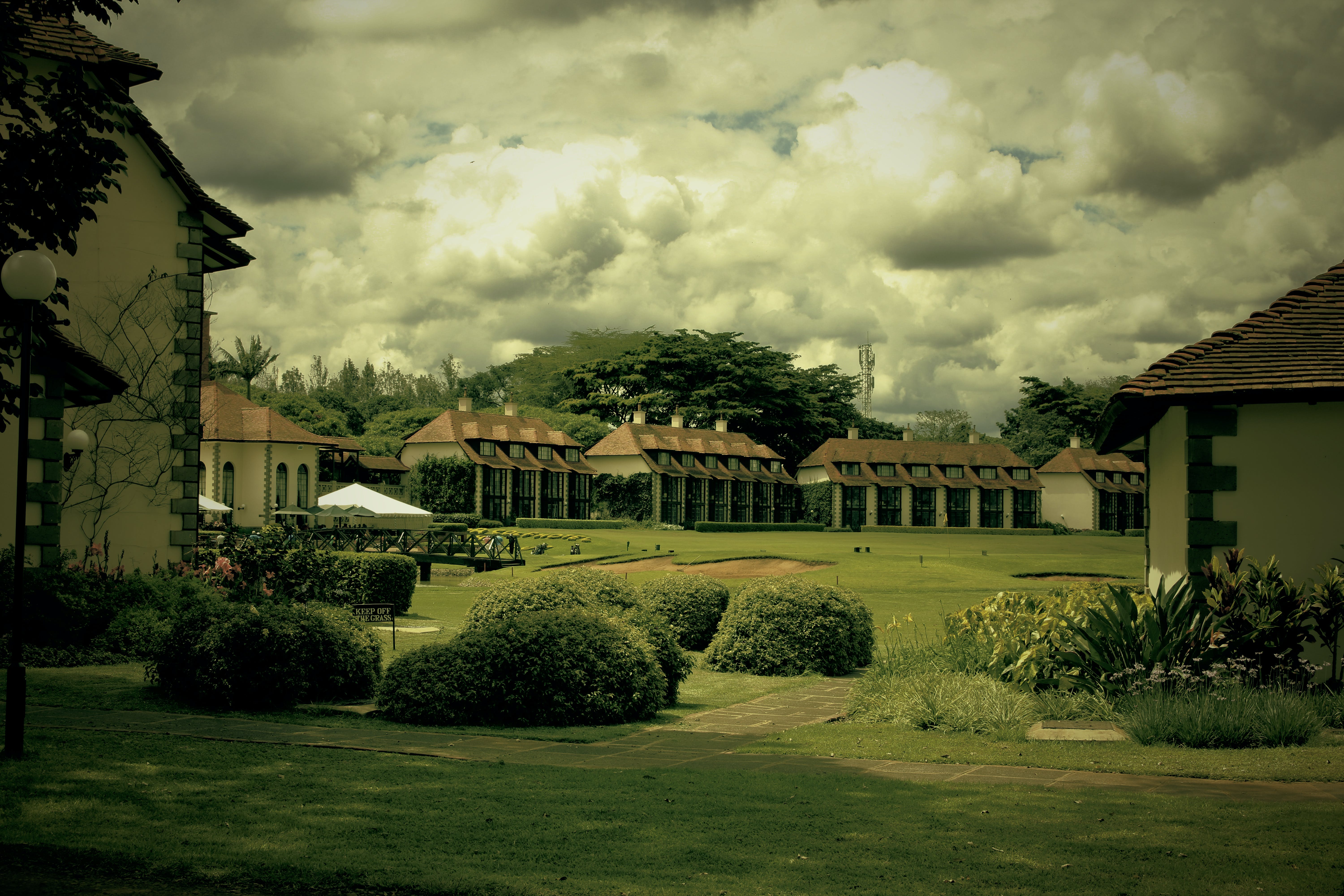 Free stock photo of building, golf course, hotel