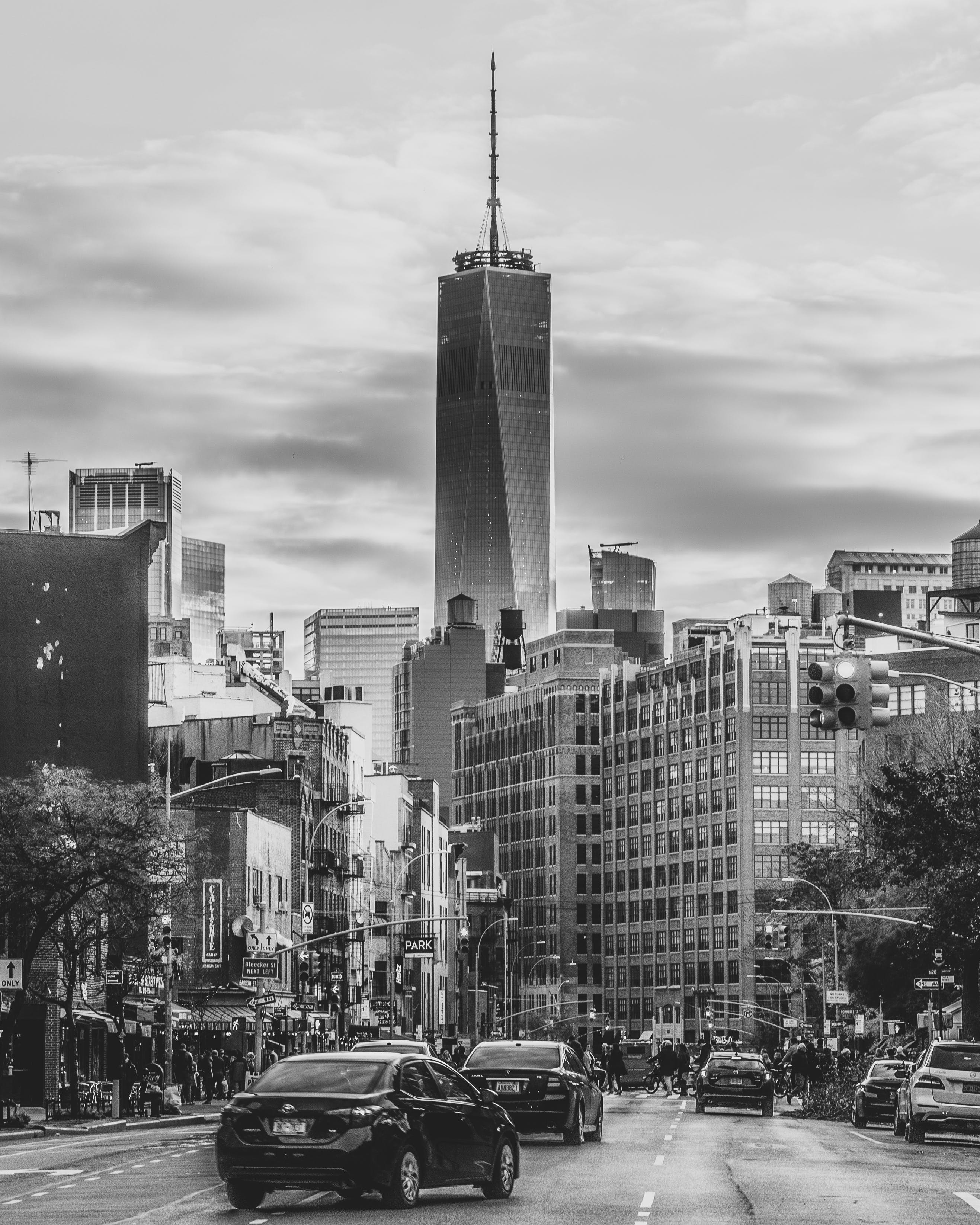 Free stock photo of black and white, one world trade center