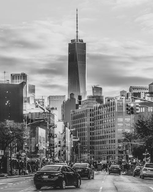 Dünya Ticaret Merkezi bir, siyah ve beyaz içeren Ücretsiz stok fotoğraf