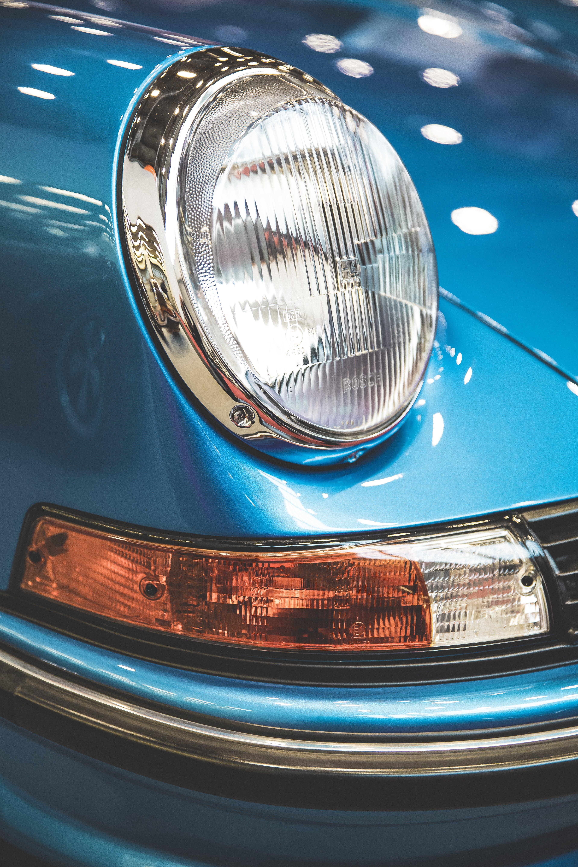 Close-Up Photo of Headlight