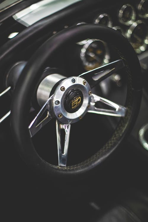 Close-Up Photo Of Steering Wheel