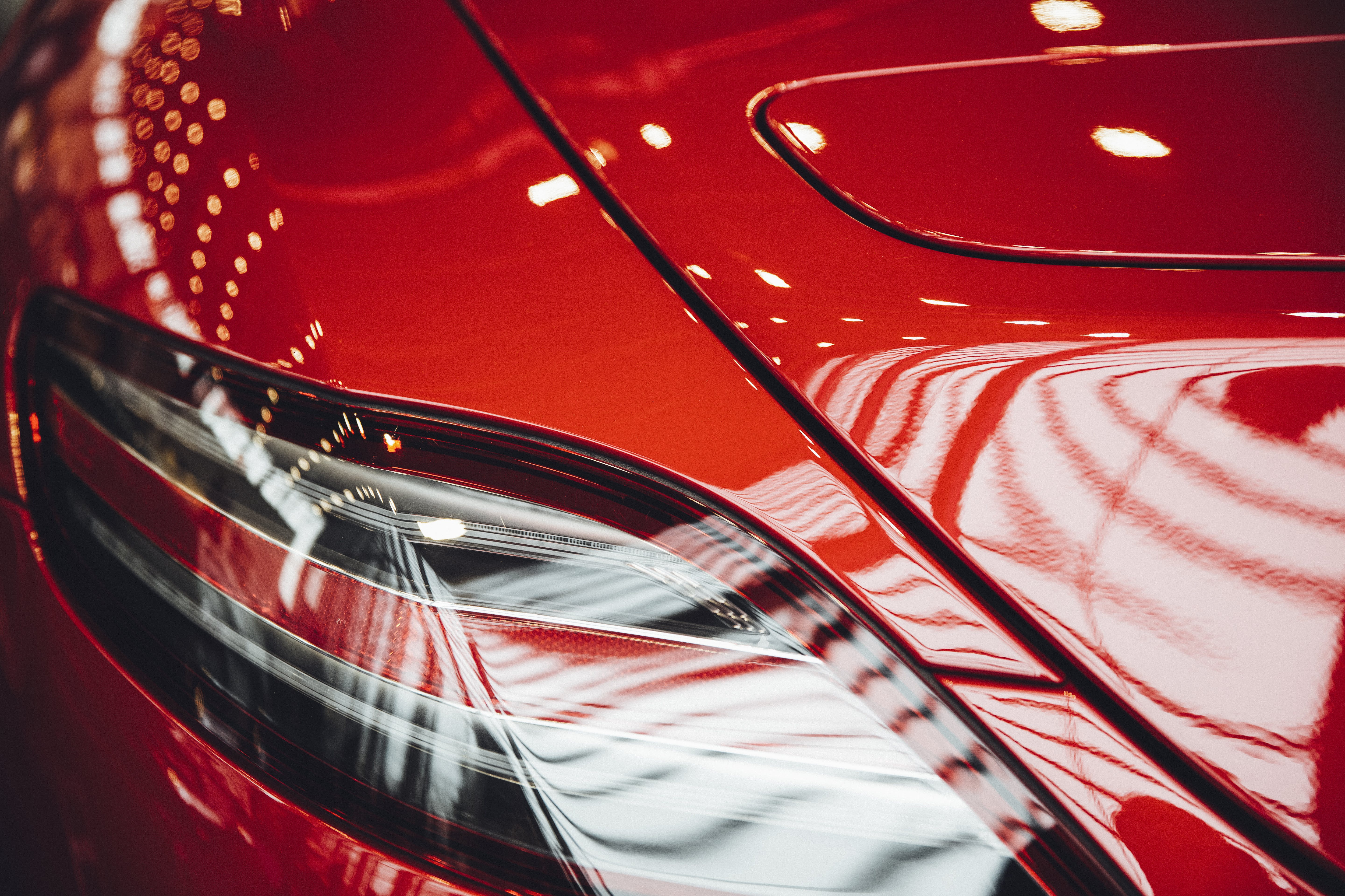 Close-Up Photo of Red Car