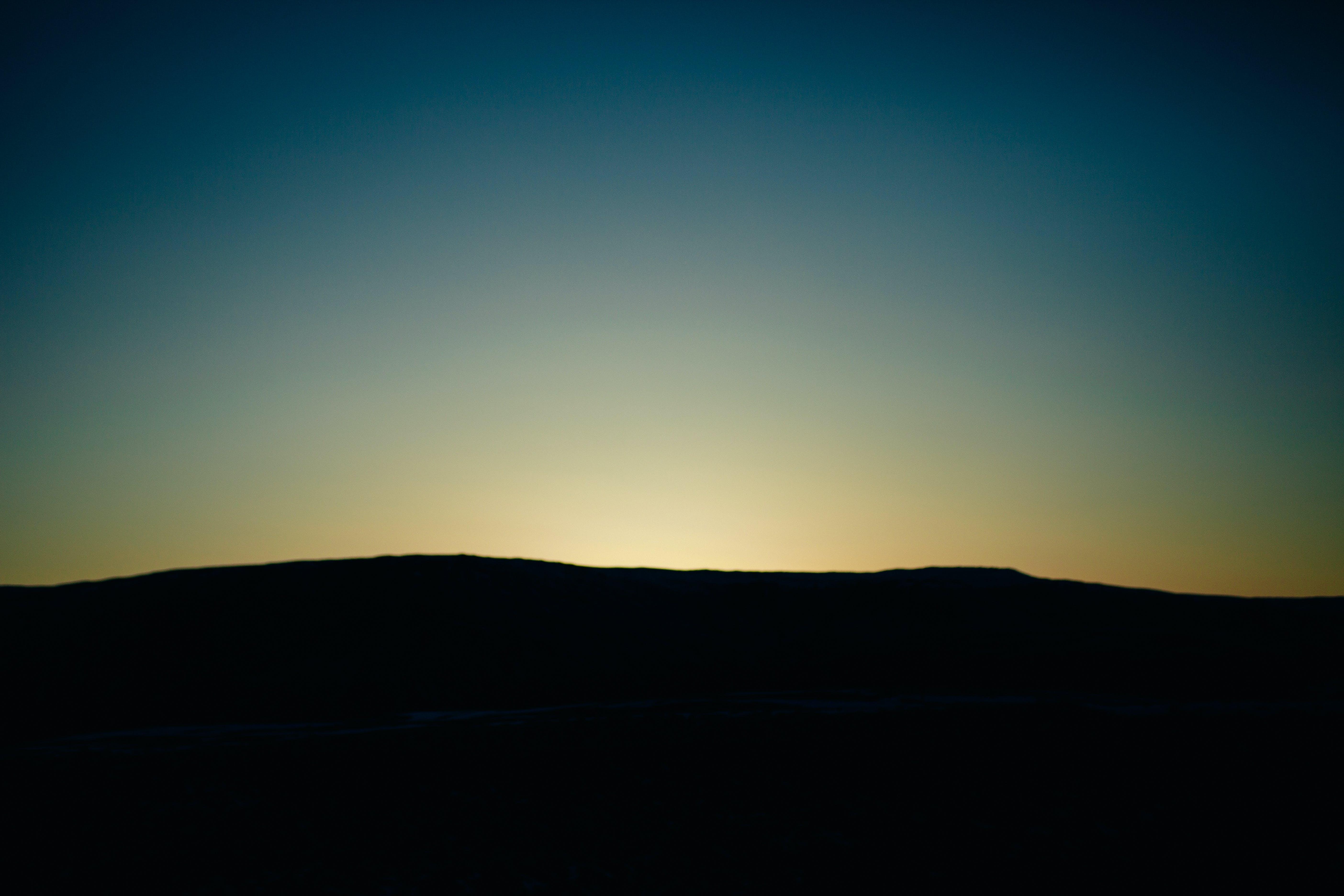 morgengry, mørk, nat