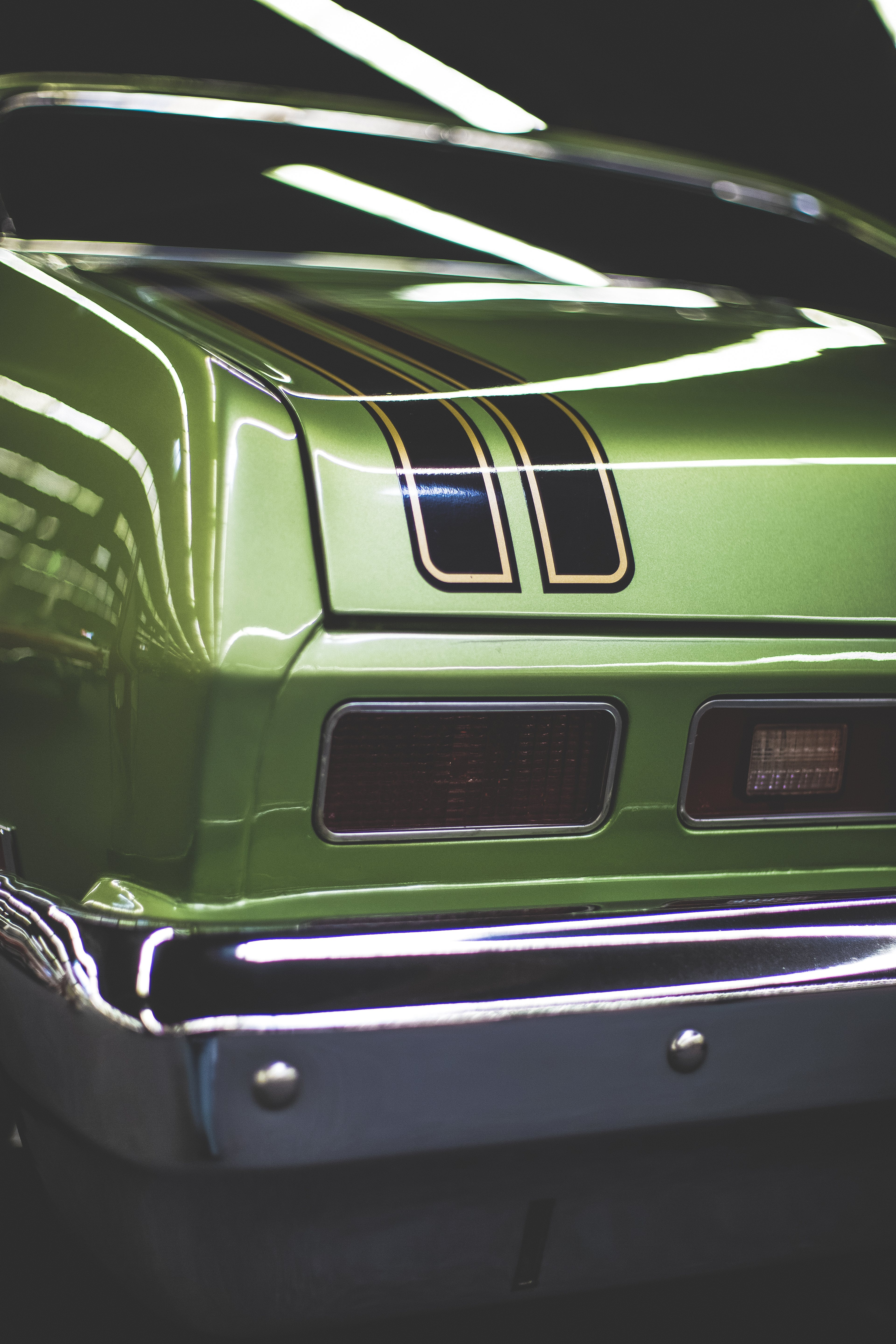 Green and Black Vehicle