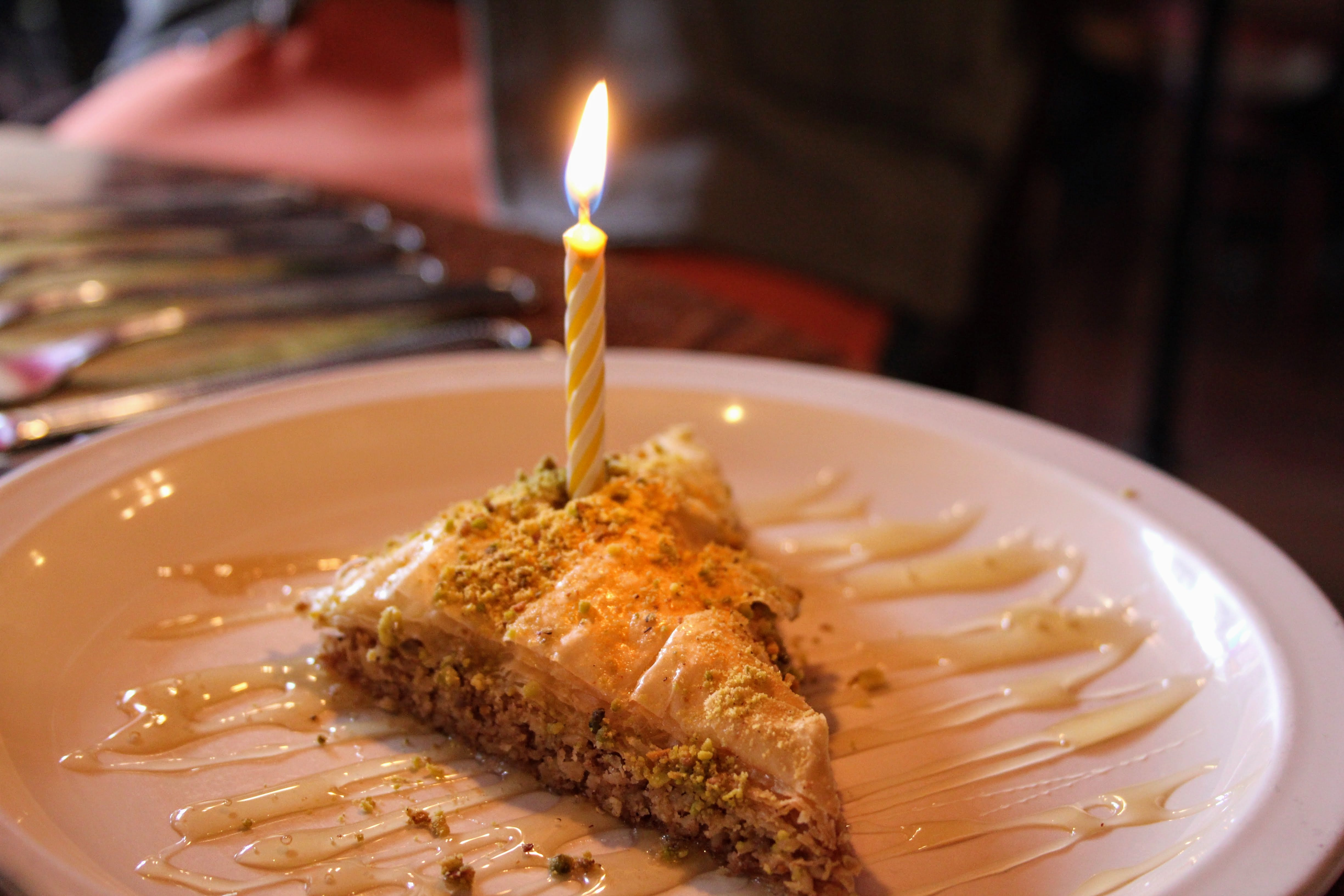 Free stock photo of baklava, birthday, candle, cumpleaños