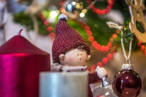 연말연시, 초, 크리스마스, 크리스마스 장식의 무료 스톡 사진