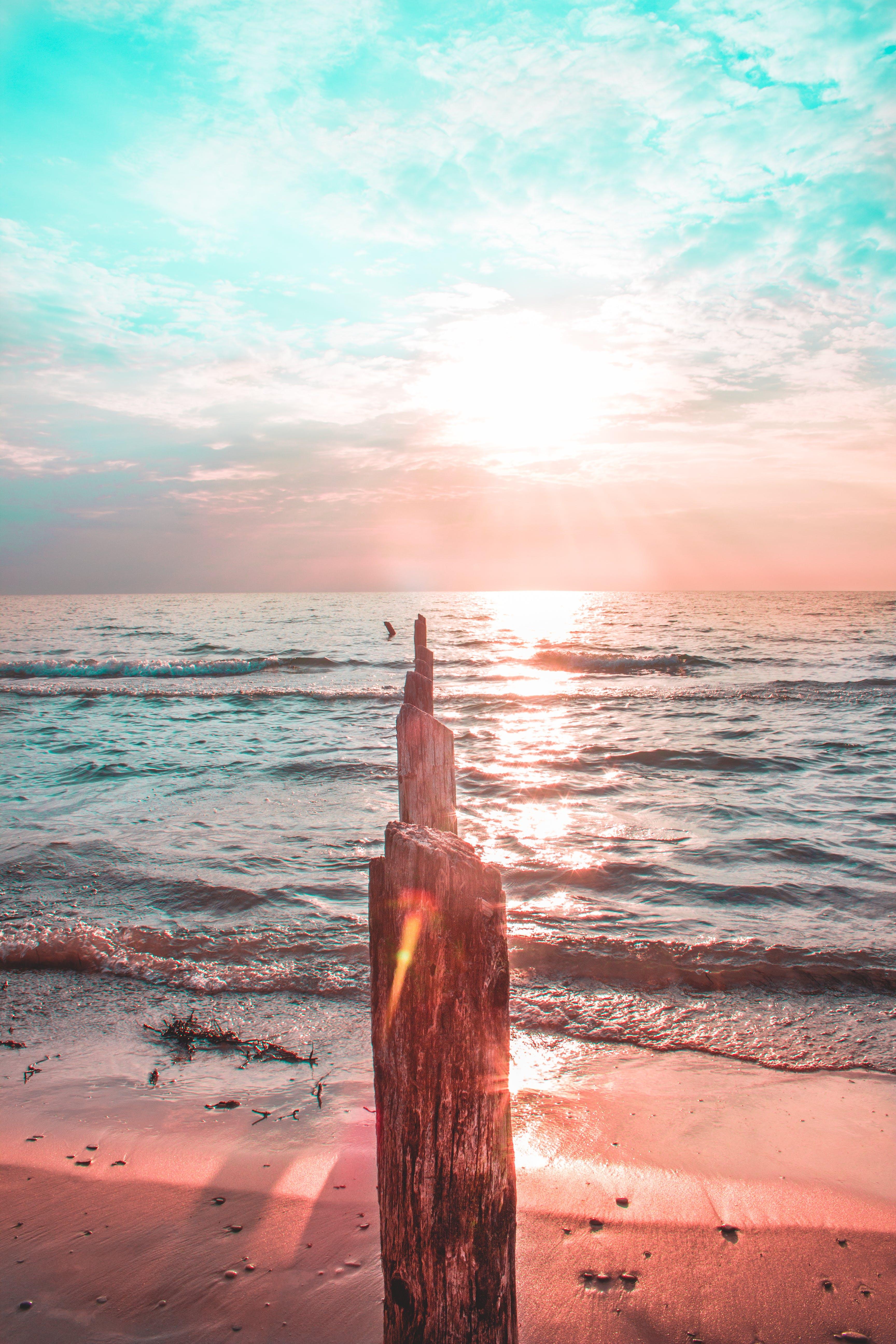 Immagine gratuita di alba, bagnasciuga, cielo, litorale