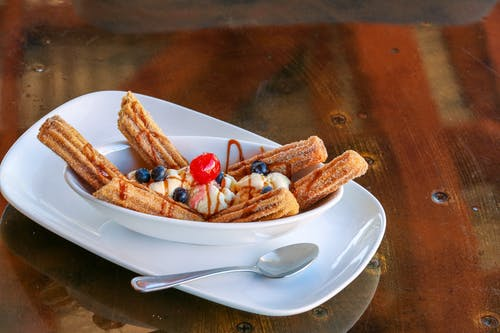 Churros On A Bowl