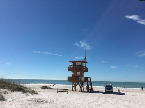 Free stock photo of beach, lifeguard tower