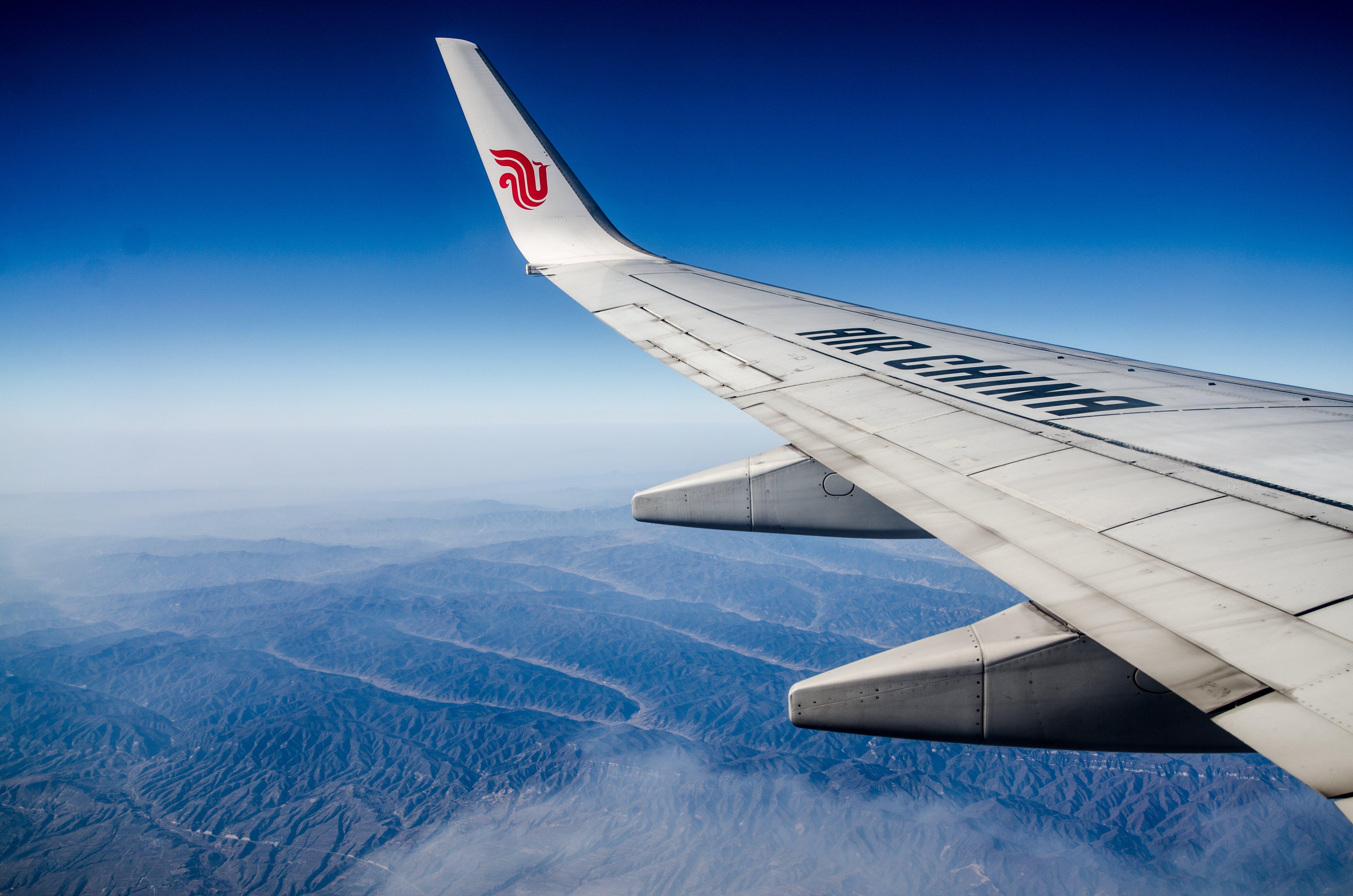 Ingyenes stockfotó kék ég, repülőgép témában