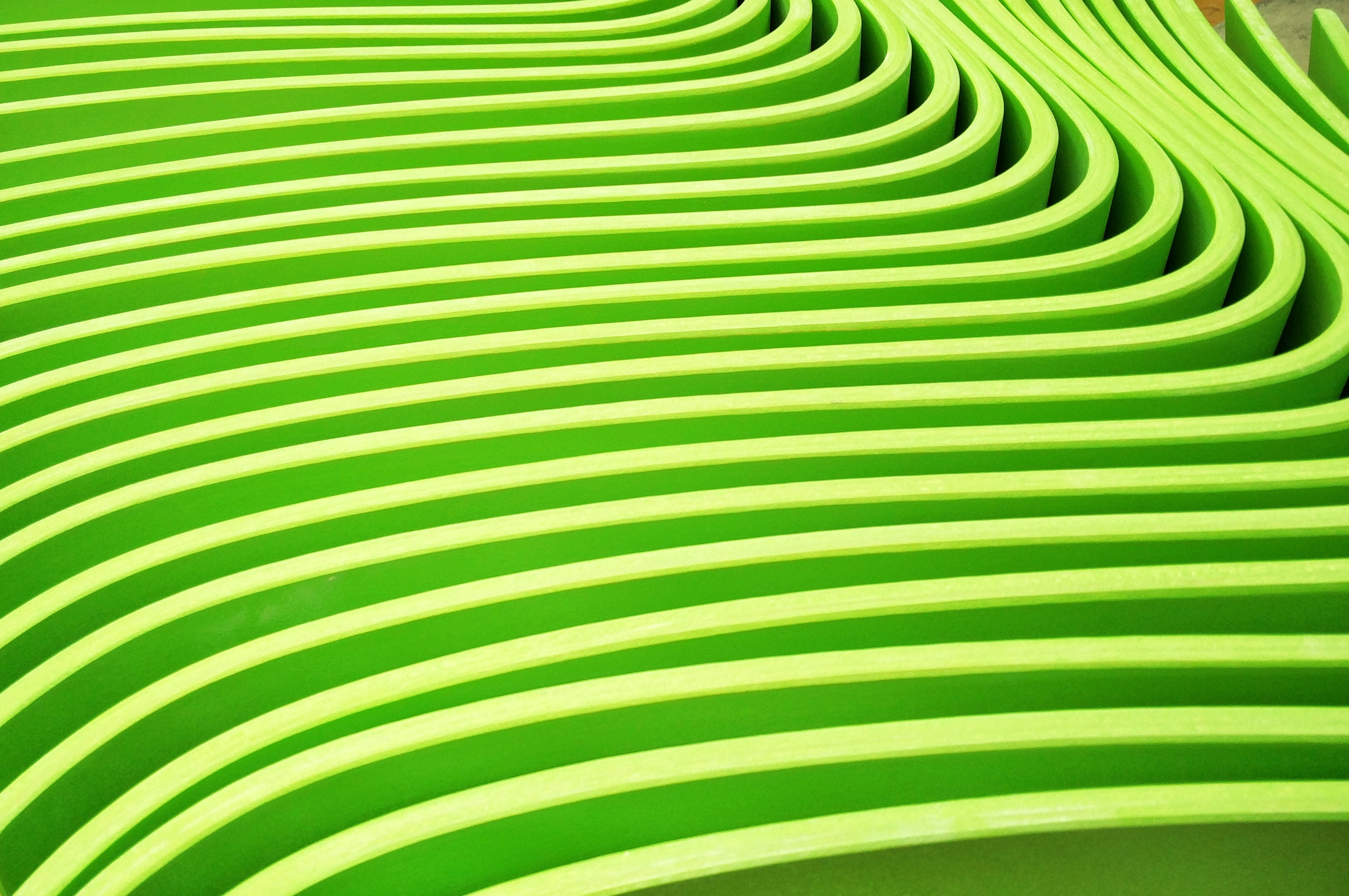 Free stock photo of abstract, curved, geometric pattern, green
