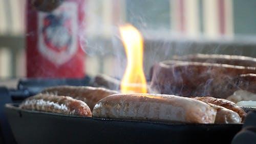 Ingyenes stockfotó barbecue, grill, kerti sütögető, kolbászok témában
