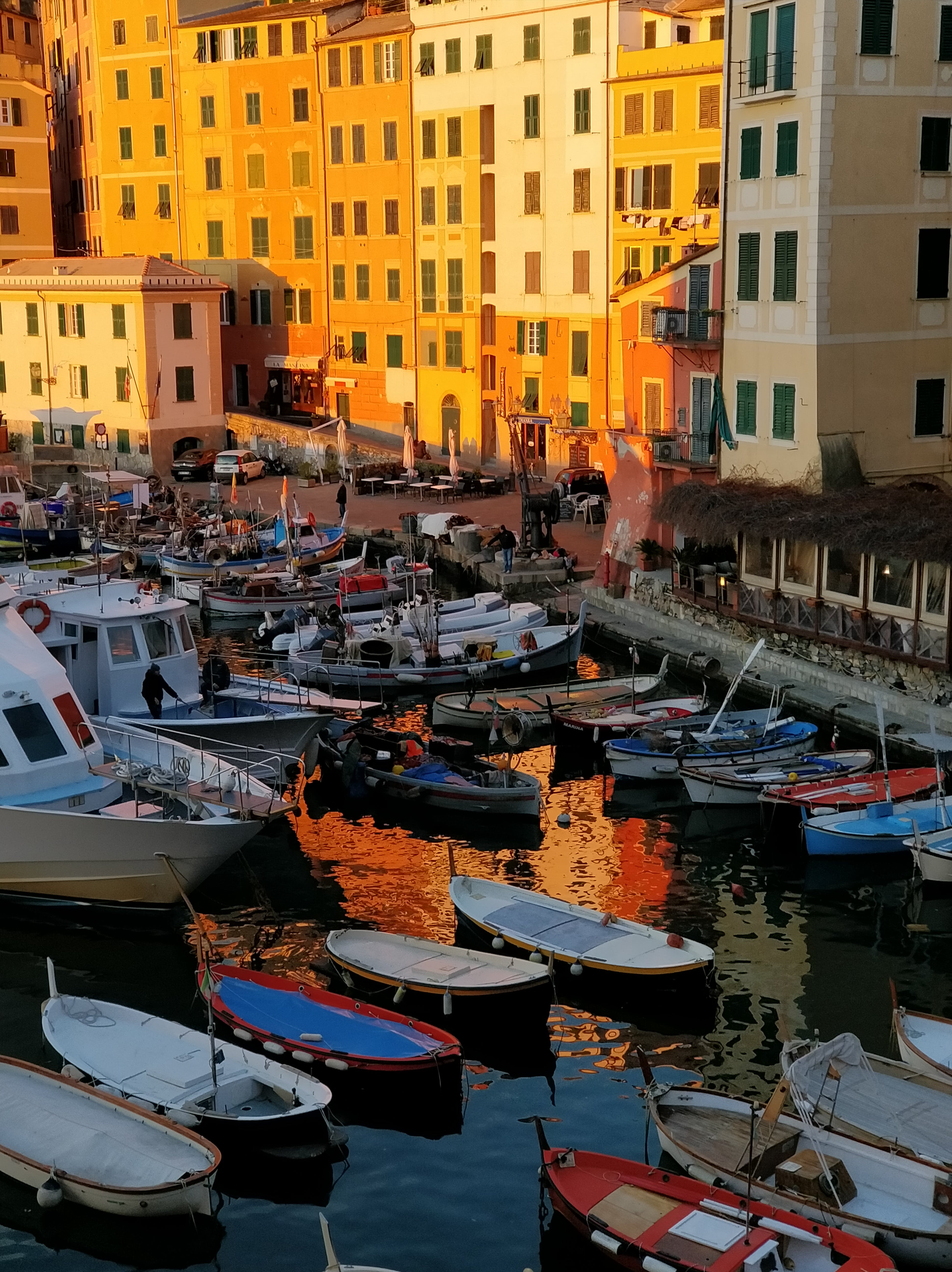 Free stock photo of dock, gloden hour, italy, reflection