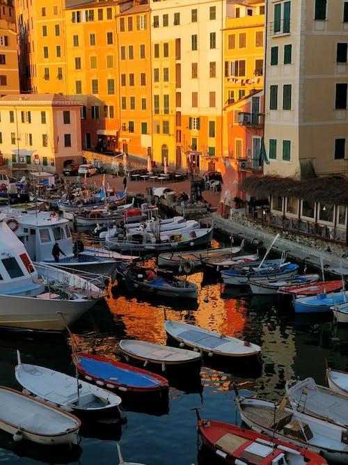 Foto stok gratis air, itali, jam gloden, matahari terbenam