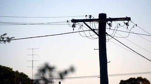 Ingyenes stockfotó elektromos vezetékek, elektromosság, rúd, vezetékek témában