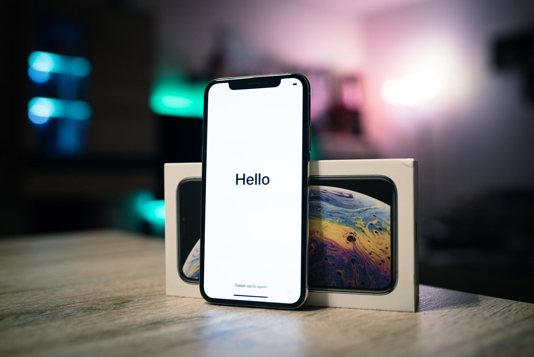 Free stock photo of apple, Hello, iPhone XS, smartphone