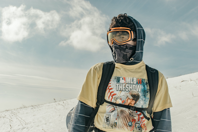 Man Wearing Shirt And Mask