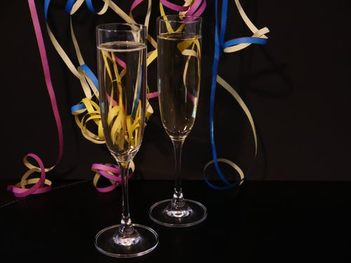 Free stock photo of celebrate, champagne glasses, new year, sparkling wine