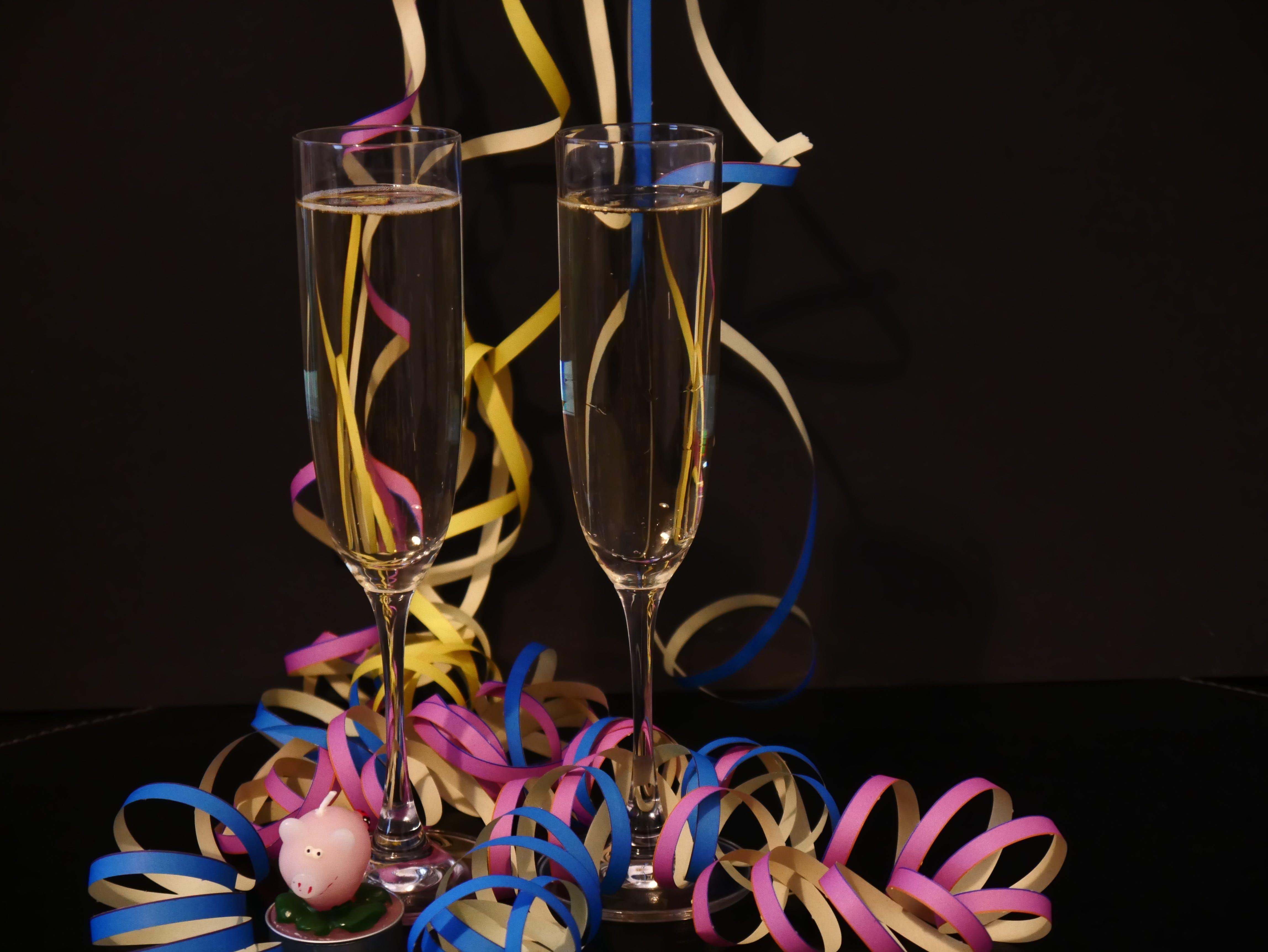 Kostenloses Stock Foto zu feier, feiern, neujahr, sekt