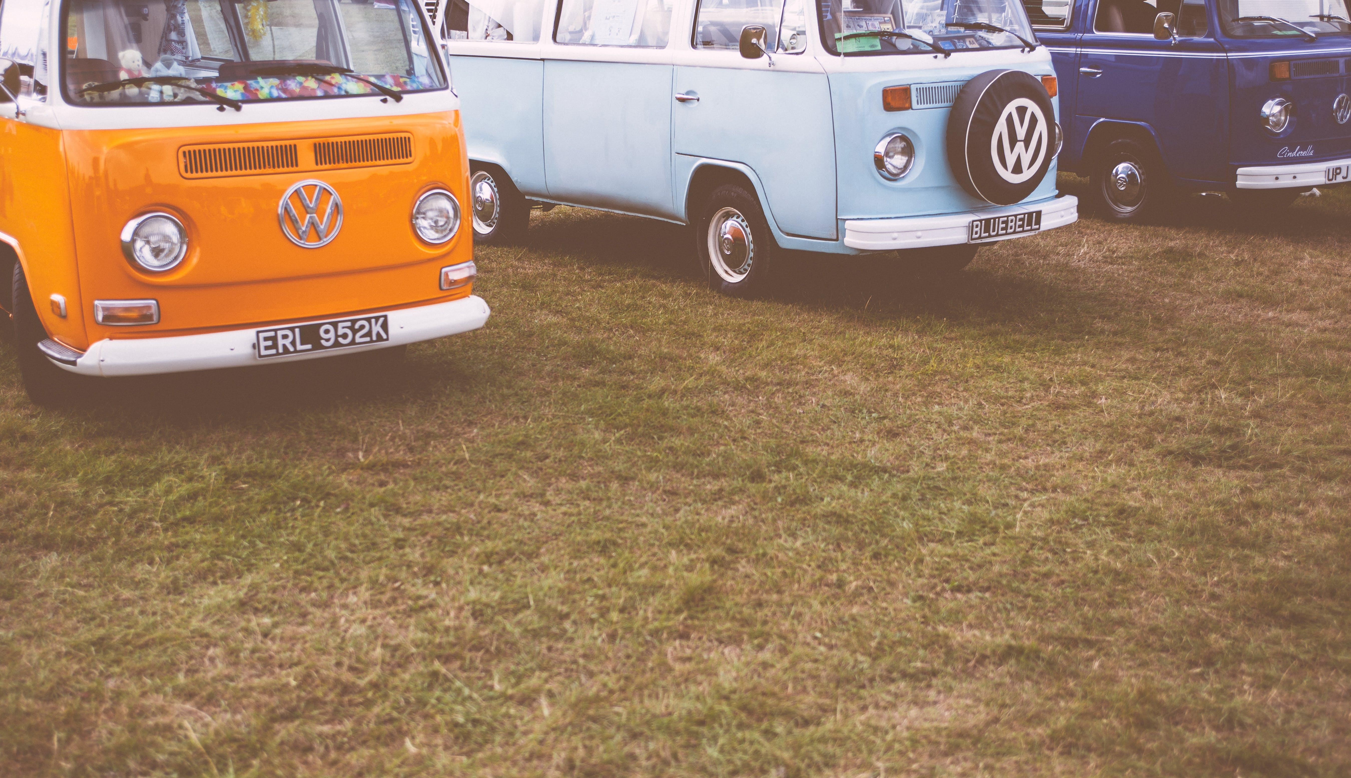 Orange Volkswagen Cab