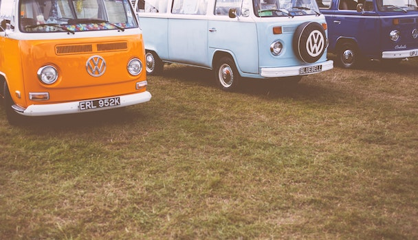 Free stock photo of vehicles, field, vintage, grass