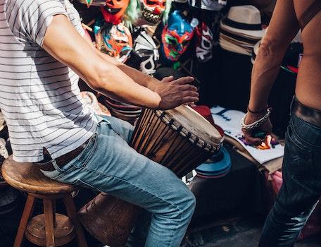 Free stock photo of music, musician, market, fun