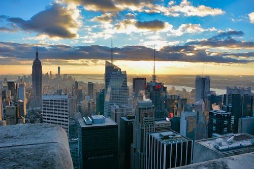 Gratis arkivbilde med kveldshimmel, new-york