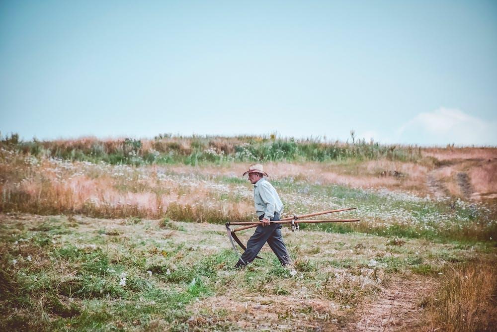 Man walking on a farm. | Photo: Pexels