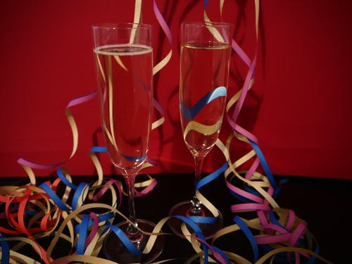 Free stock photo of celebrate, champagne glasses, new year, sylvester