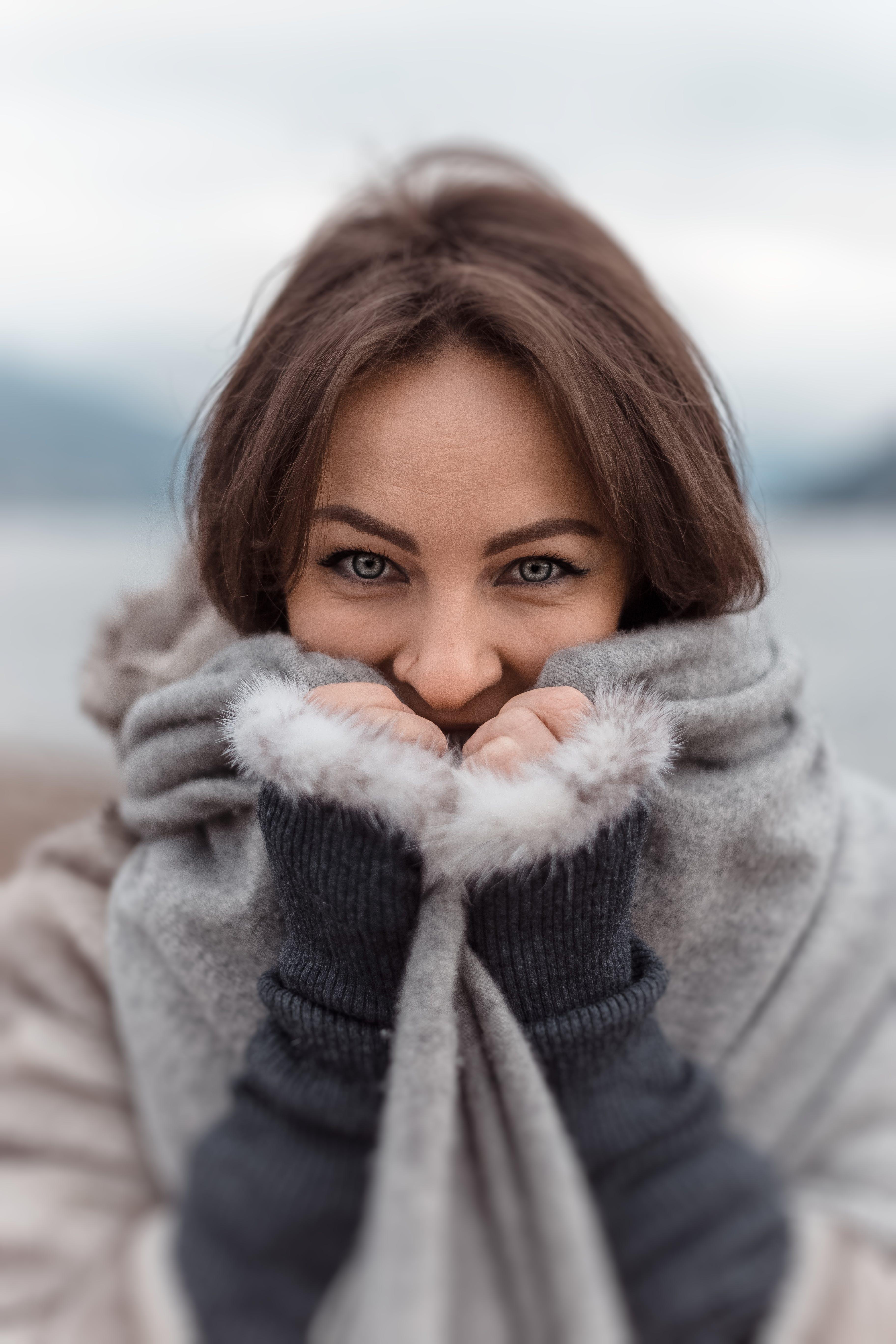 Photo of Woman Wearing Gray Jacket