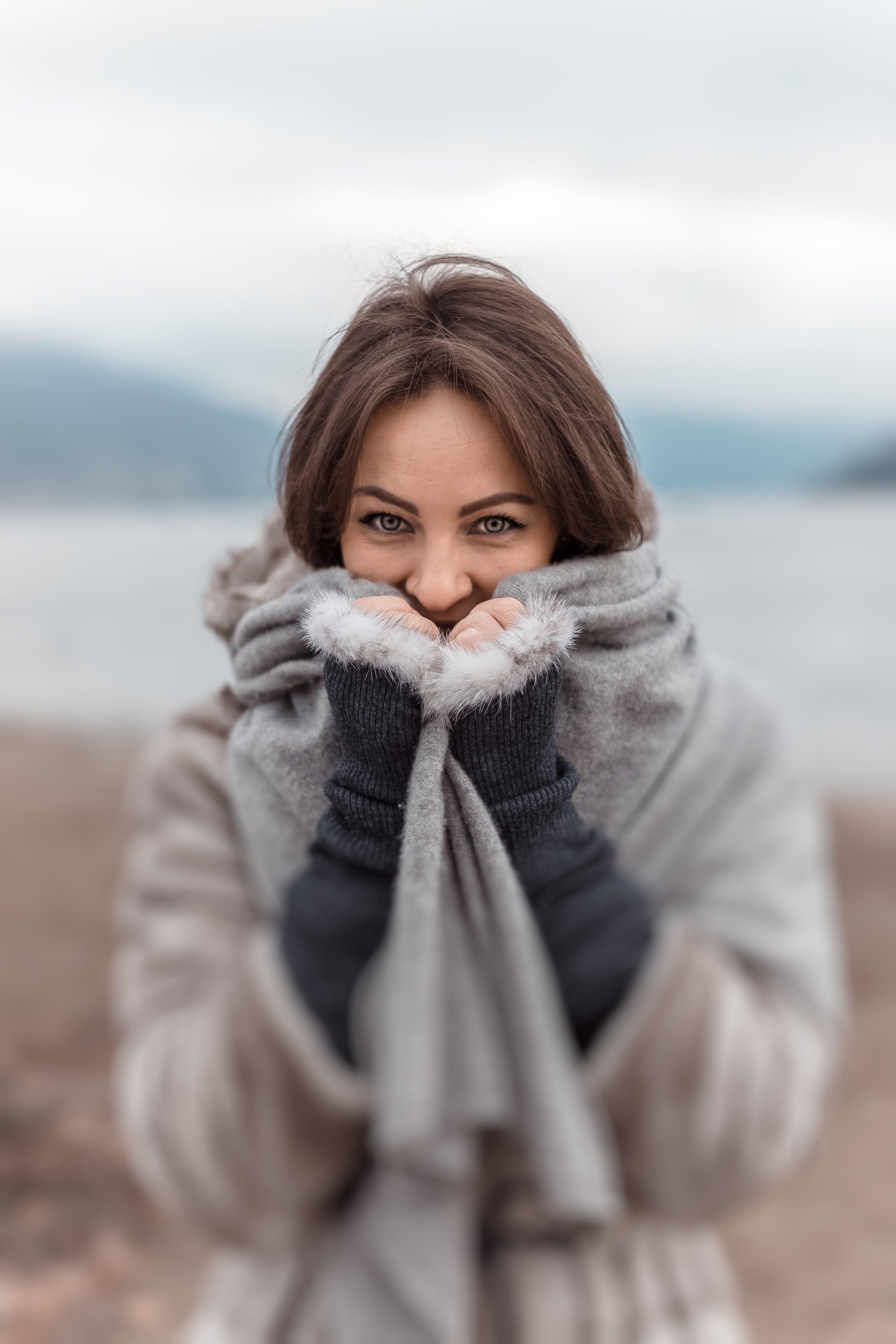 Imagine de stoc gratuită din eșarfă, femeie, frig, frumos