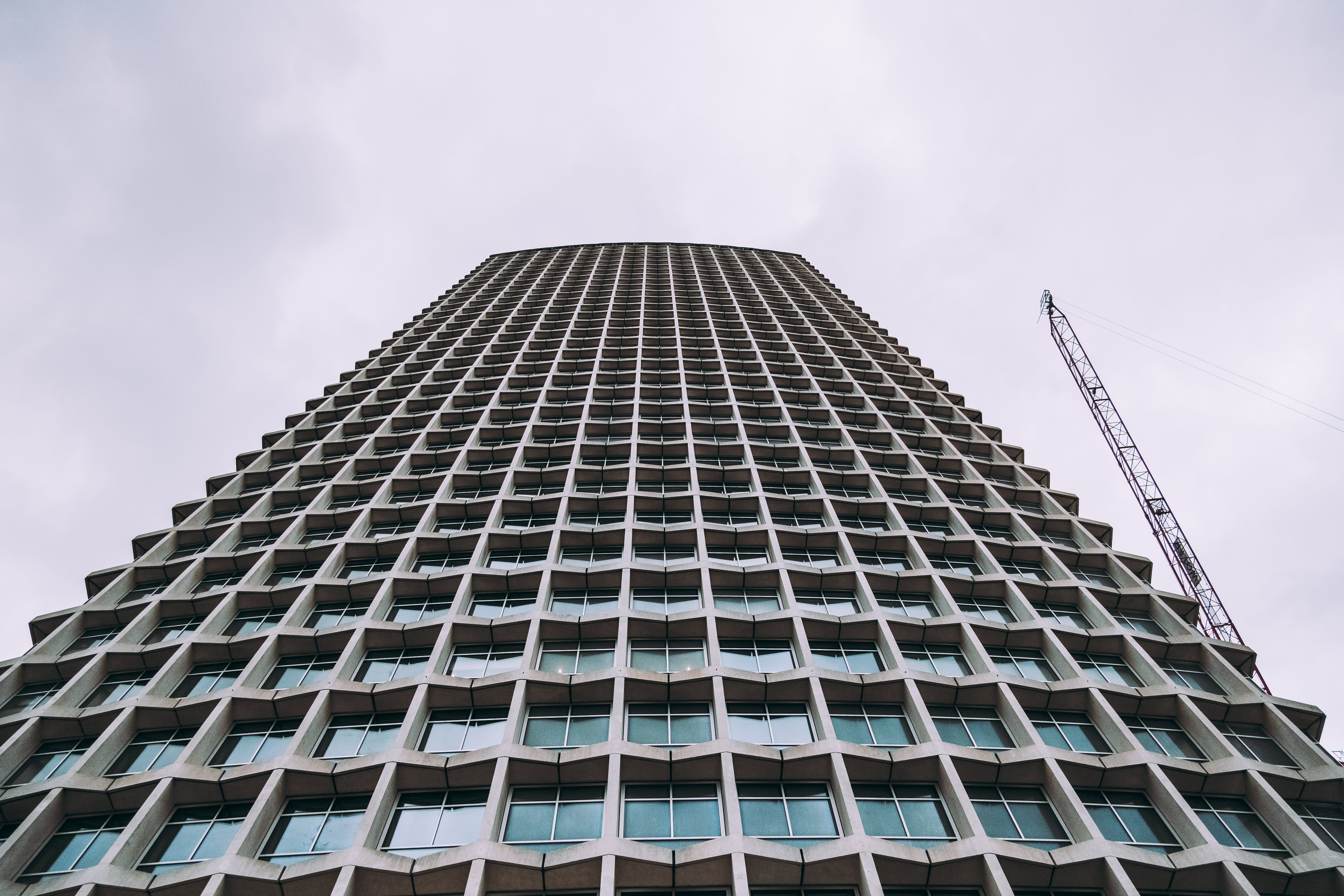 Worm's-eye View of Gray Building