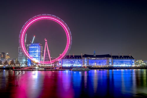 London Eye During Night Time