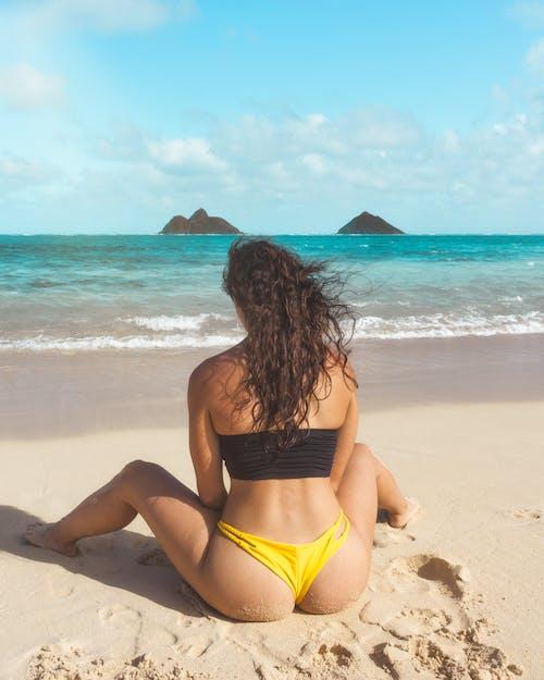 Free stock photo of backpacking, beach, bikini, bikini girl
