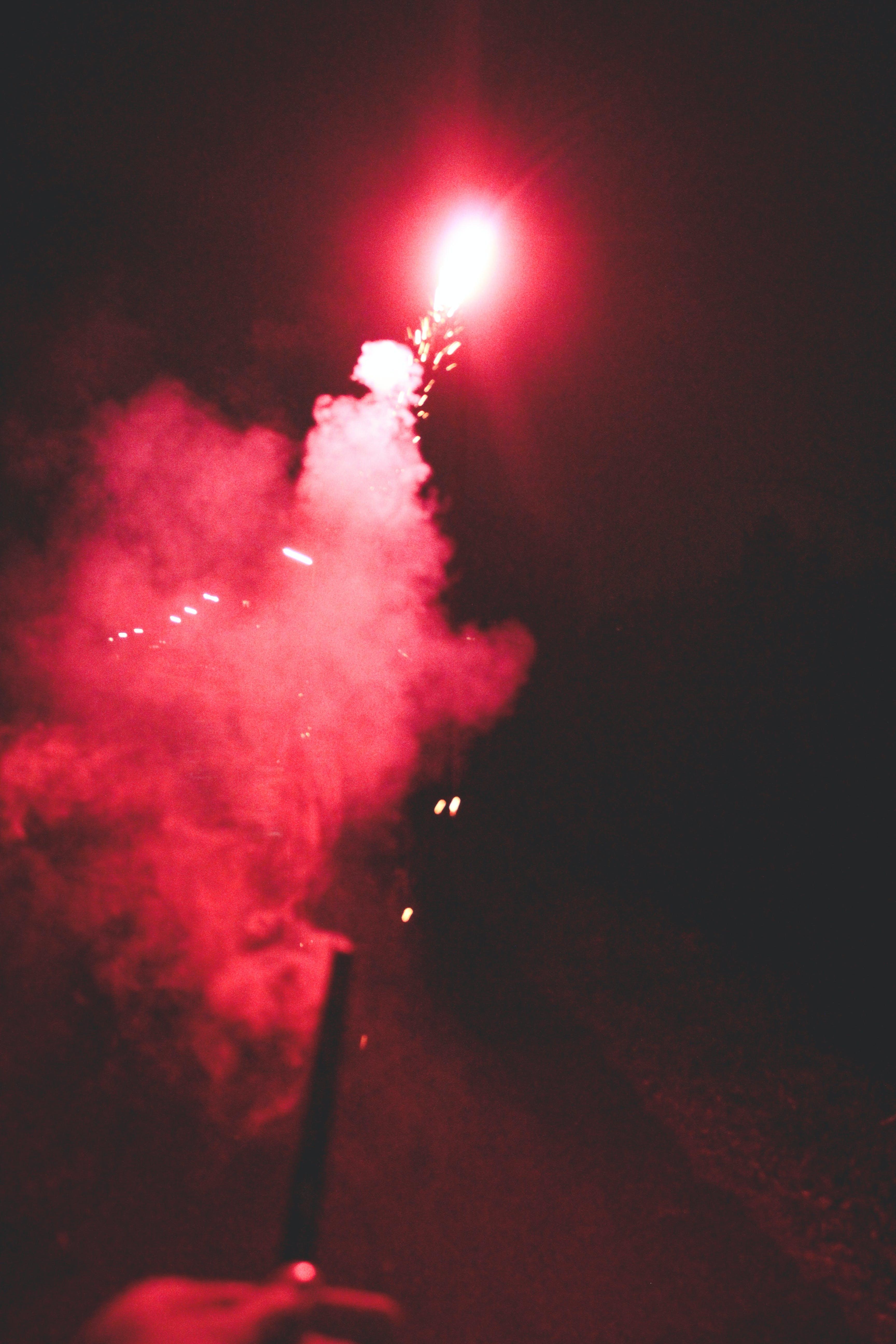 feuerwerk, langzeitbelichtung, rauch