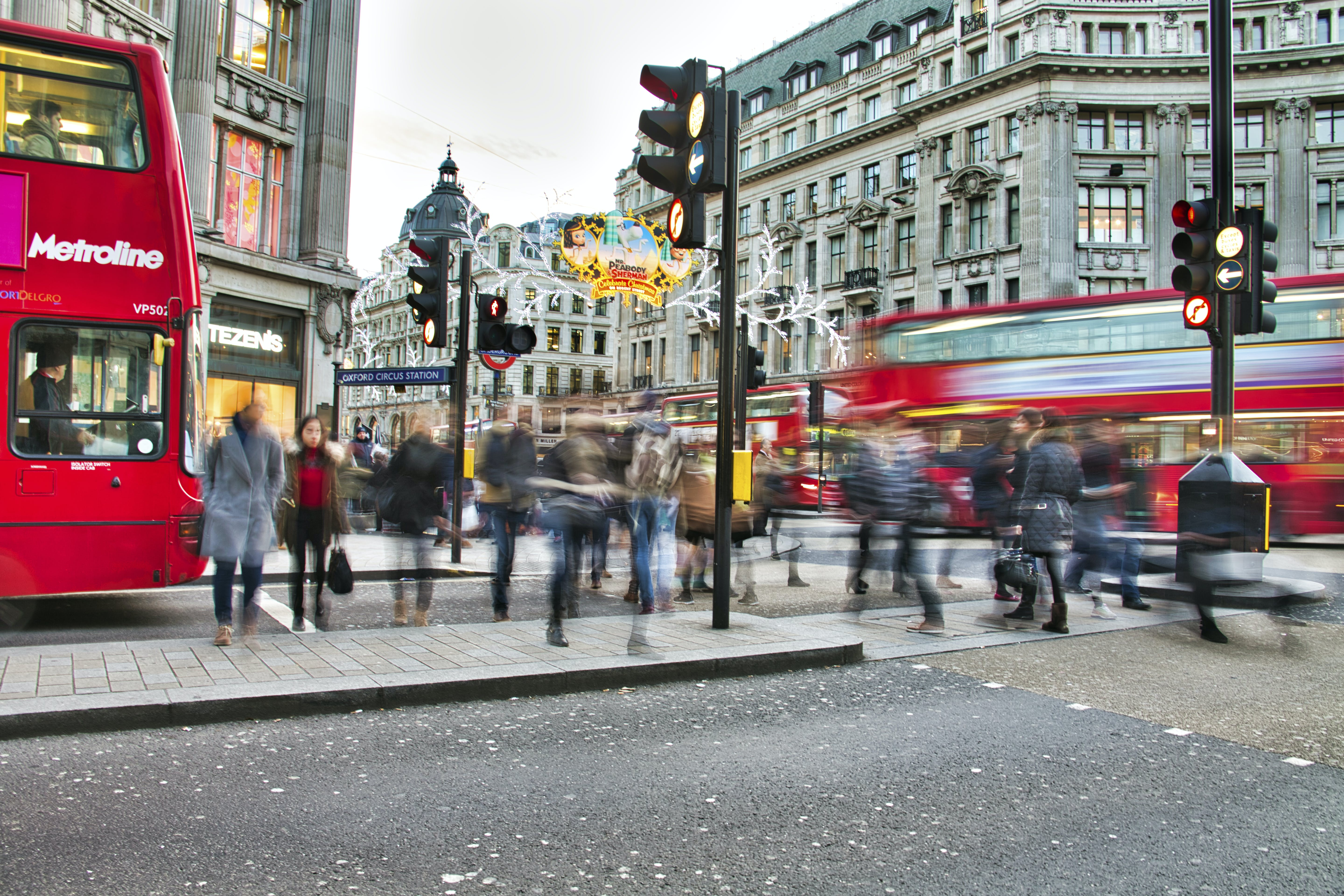 Free stock photo of buses, london, motion blur, oxford circus