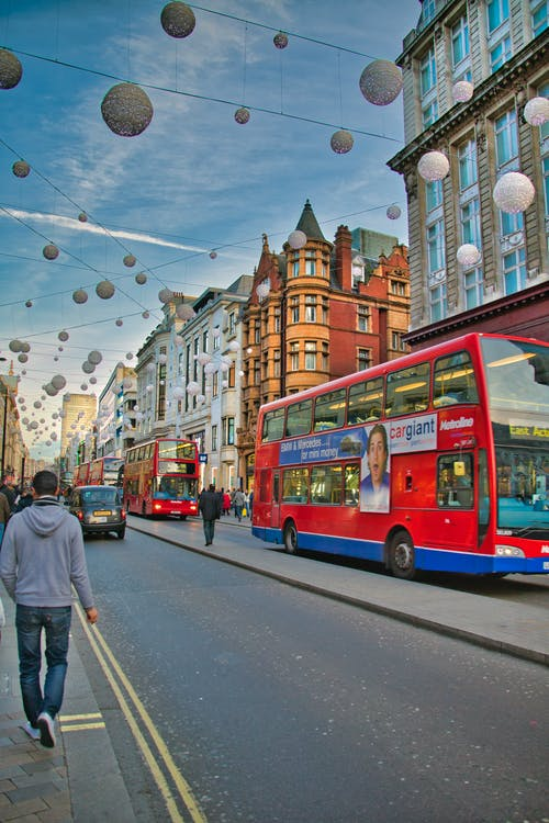 автобусы, автомобиль, архитектура