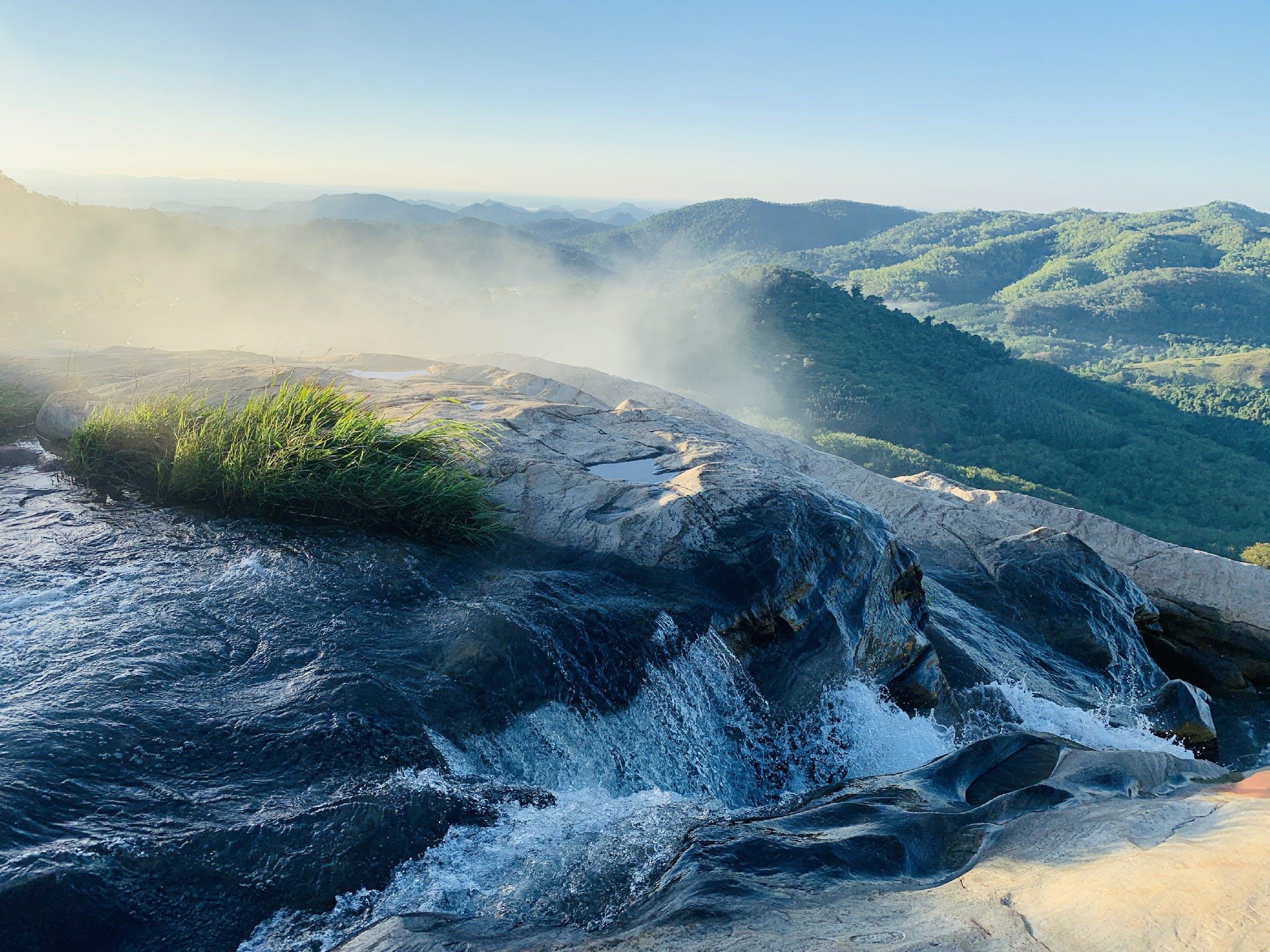 Free stock photo of #falls #water #mountains #morning