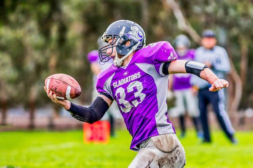 Free stock photo of action, American football, catch, Gridiron Victoria