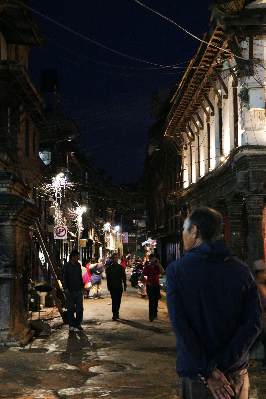 Free stock photo of night photograph, patan durbar square, patan night street