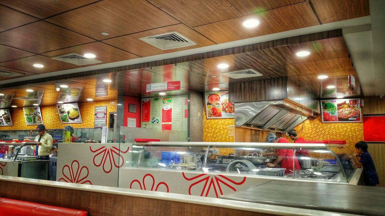 business establishment, cafeteria, contemporary