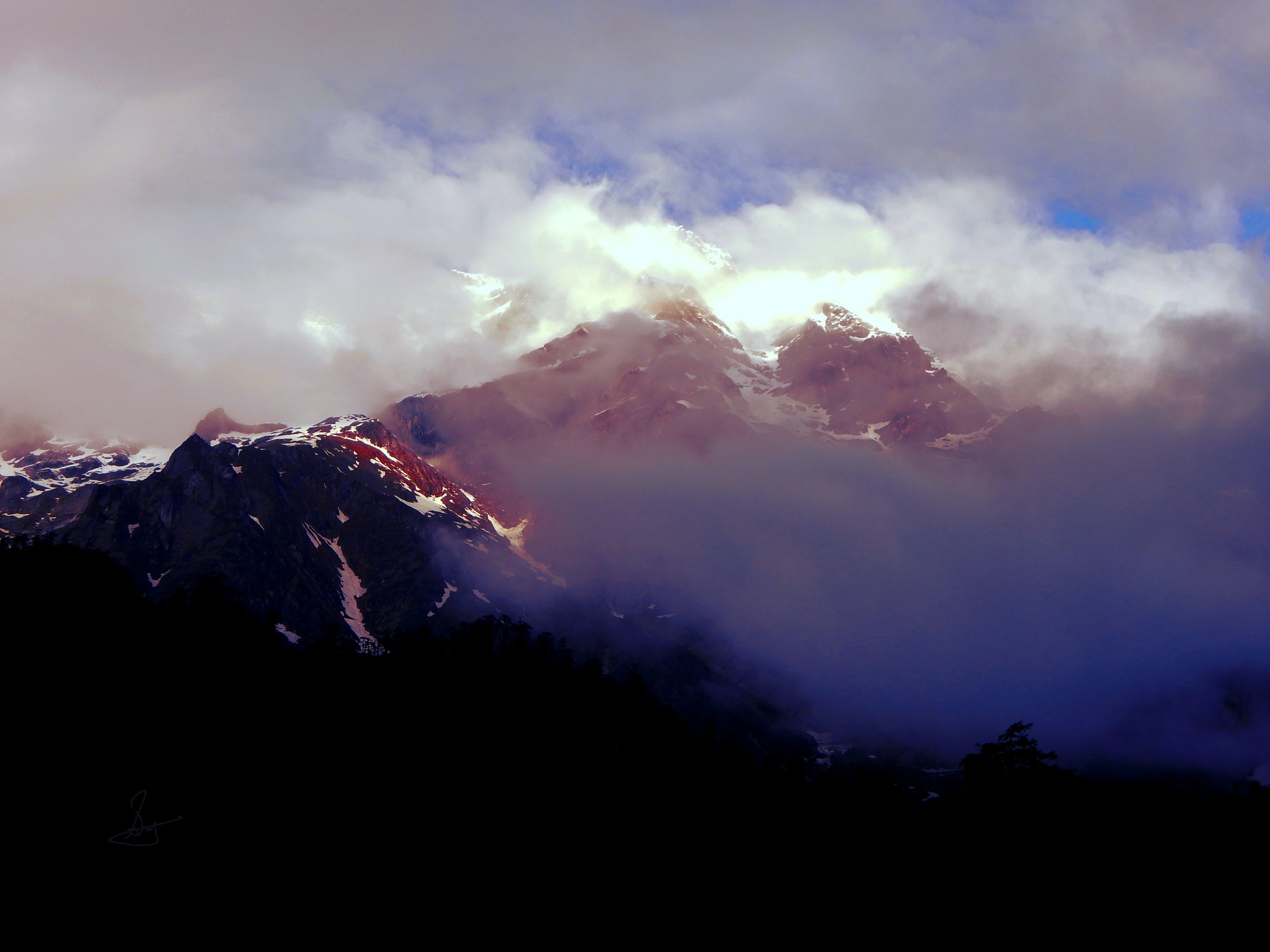 Free stock photo of mountain, sunlight