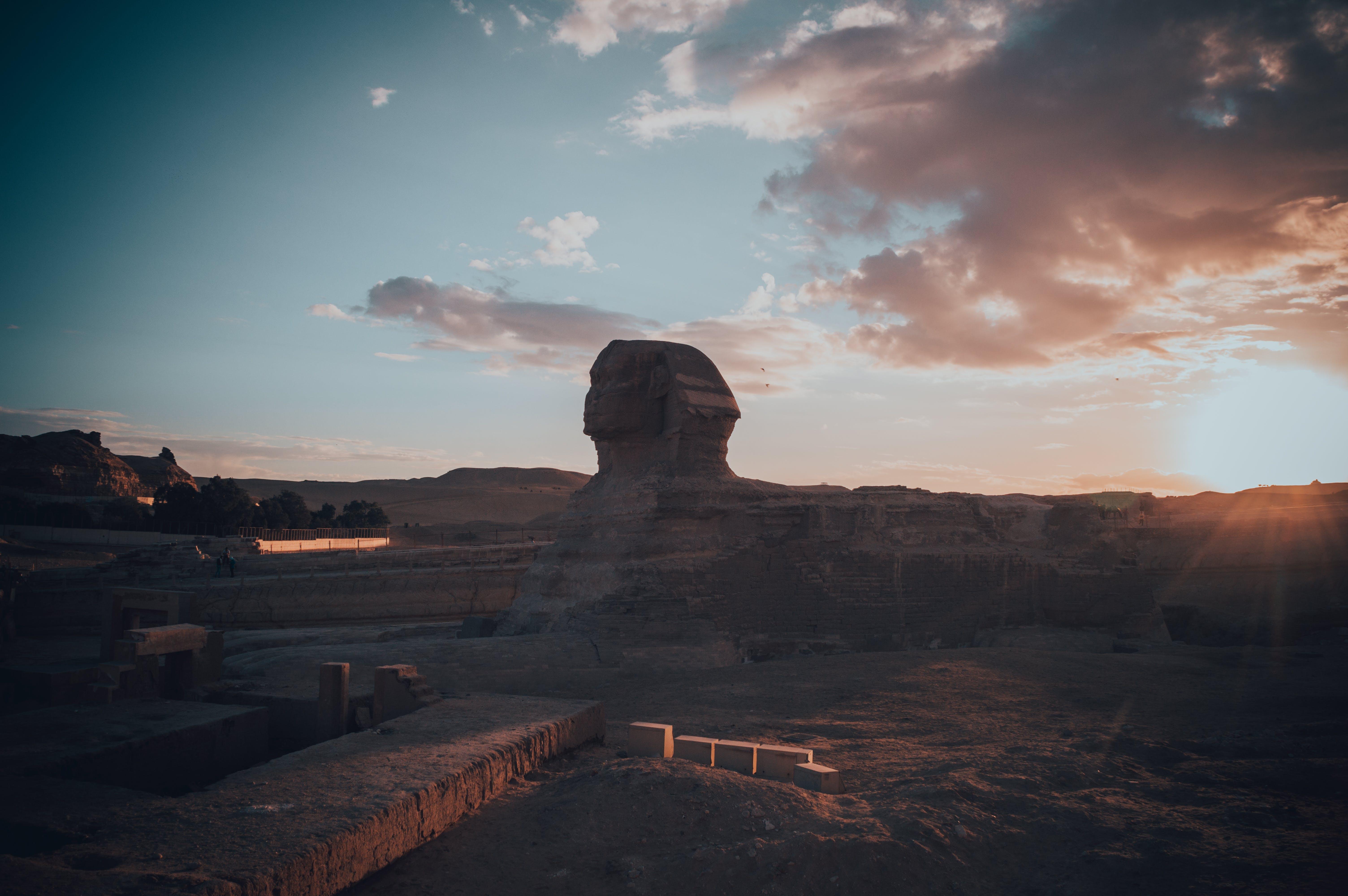 Gratis lagerfoto af aften, bjerg, blå himmel, Egypten
