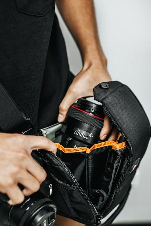 Бесплатное стоковое фото с canon, камера, комплект, линза
