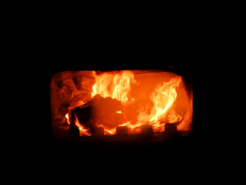 Free stock photo of comfortable, cozy home, fire, oven