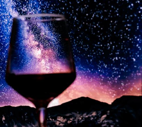 Free stock photo of falling-stars, red wine, stars, wine glass