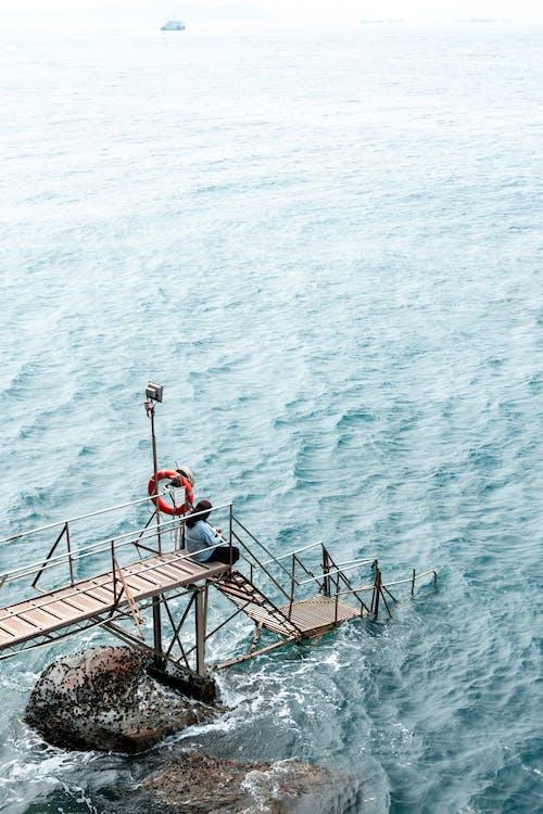 Foto stok gratis air, batu, dermaga, gelombang